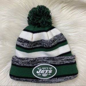 New York Jets green and white beanie